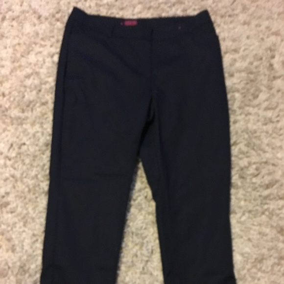 212 Collection Pants - Classic straight leg black dress pants a82ec93af